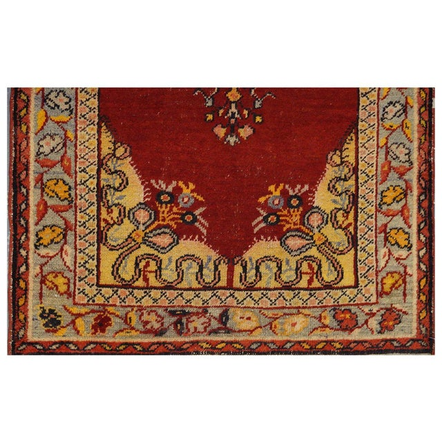 "Vintage Turkish Oushak Rug - 3'3"" x 6'5"" - Image 2 of 3"