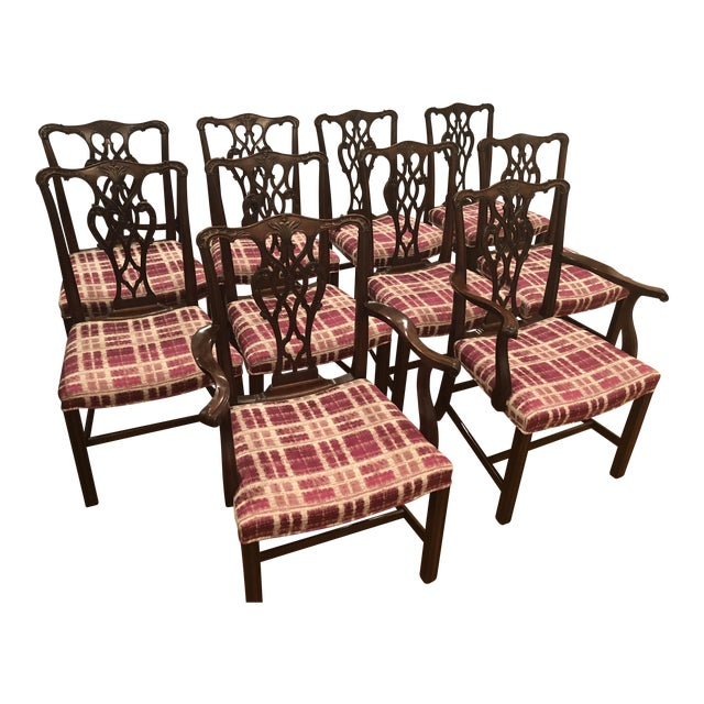 Antique Chippendale Dining Chairs - Set of 10 For Sale