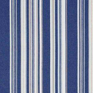 Schumacher Ponderosa Stripe Indoor/Outdoor Fabric in Blue For Sale
