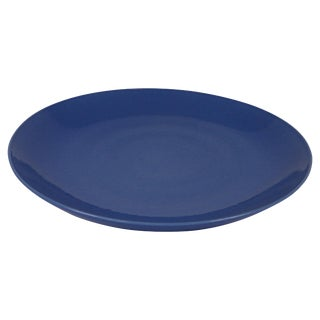 21st Century Chinese Powder Blue Charger Plate For Sale