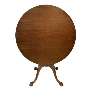 Antique Round Mahogany Tilt Top Table For Sale