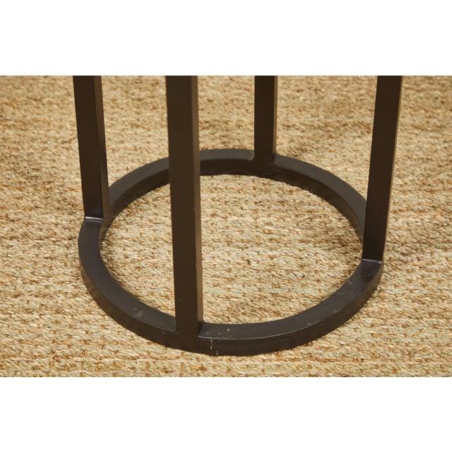 Black Primitive Iron Side Tables For Sale - Image 8 of 9