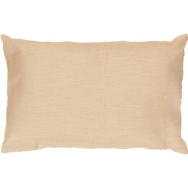 Red & Green Silk Velvet Ikat Pillow - Image 2 of 2