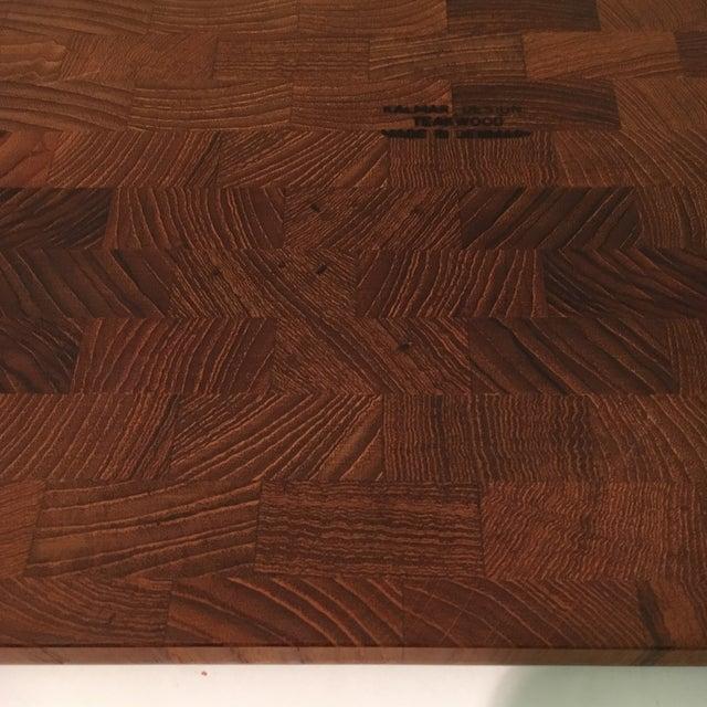 Teak Mid-Century Kalmar Designs Teakwood Serving Tray For Sale - Image 7 of 9