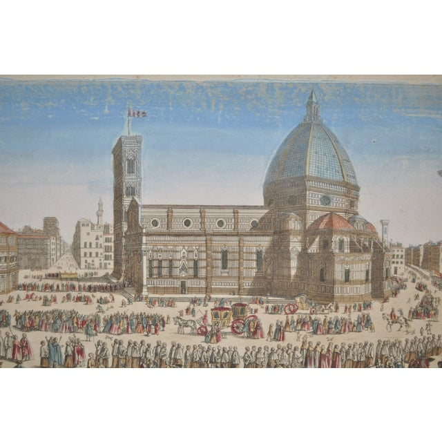 Antique Hand Colored Engraving of Florence, Italy - Image 3 of 8