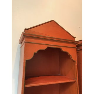 1950s Mediterranean Terracotta Painted Bookcases - a Pair Preview