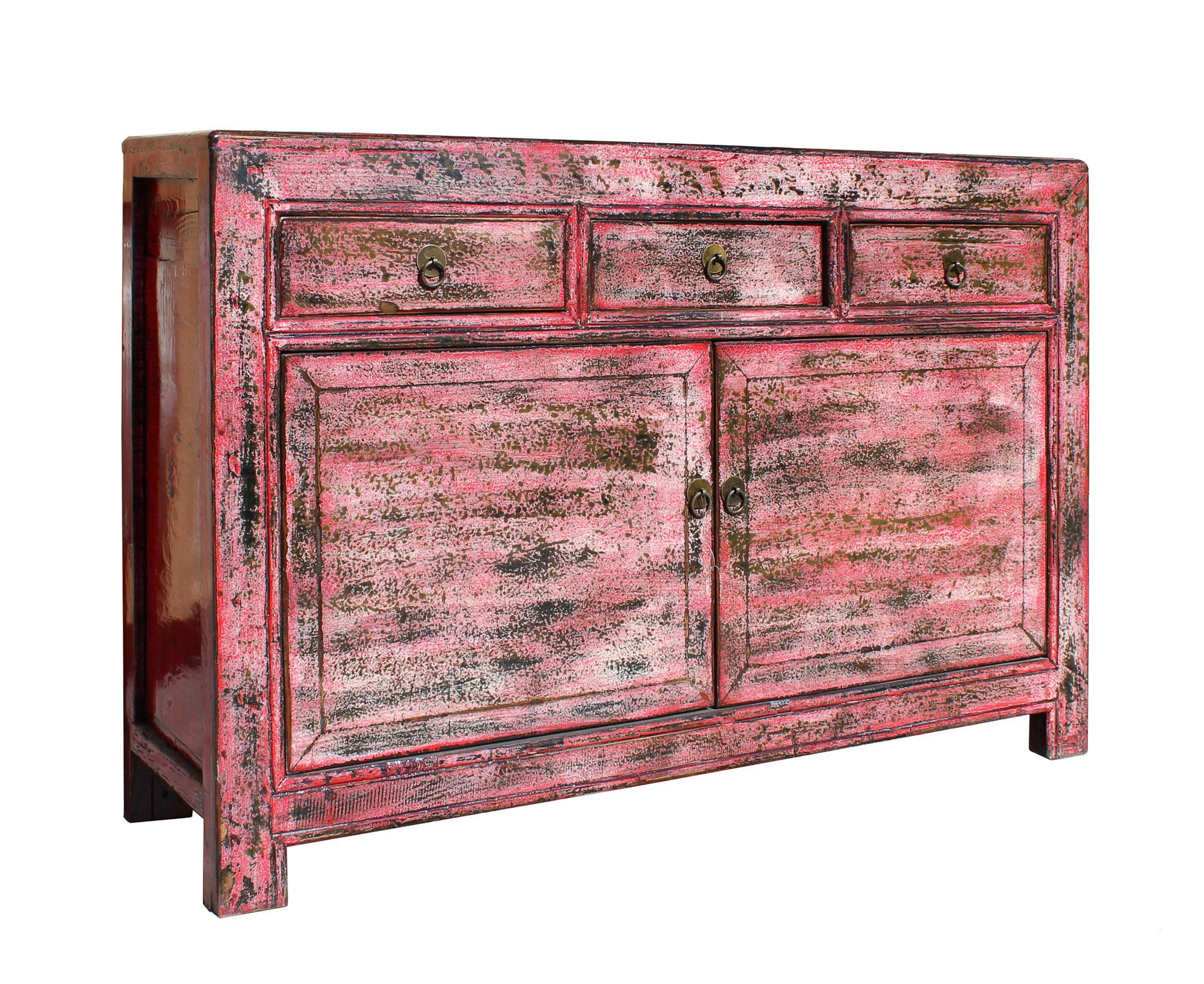 This Is A Sideboard Credenza Cabinet Table With Three Drawers And  Compartment Storage. It Is