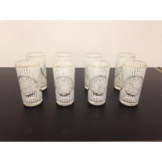 Gold Rimmed Snowflake Highball Glasses - Set of 8 - Image 2 of 4