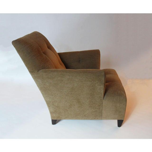 John Hutton Modern John Hutton for Donghia Eaton Tan Club Chair For Sale - Image 4 of 5