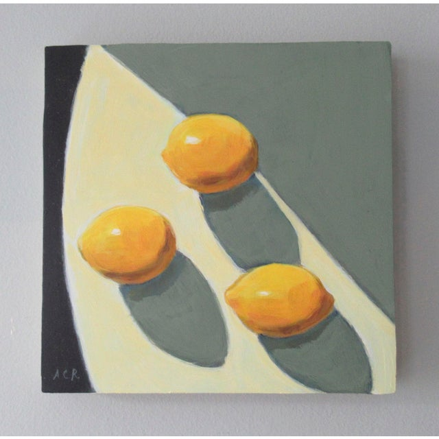 Lemons in the afternoon light. Yellow stands for optimism. This original painting has a semi abstract, impressionist feel...