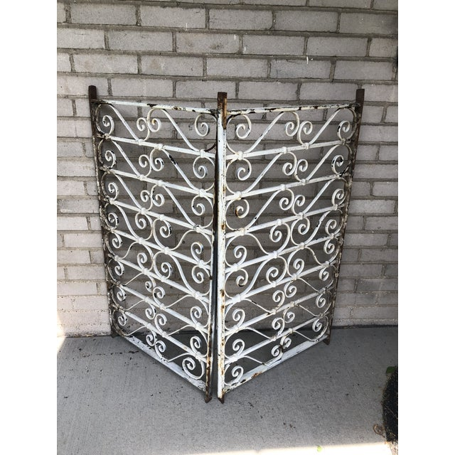 19th Century Victorian Wrought Iron Balustrade Sections - a Pair For Sale - Image 9 of 13