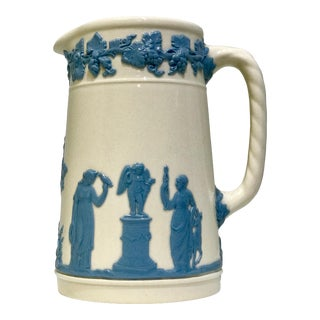 Wedgwood Jasperware Greek Scene Pitcher For Sale