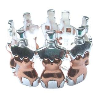 Jean Paul Gautier Figural Torso Corset Link Stretch Bracelet For Sale