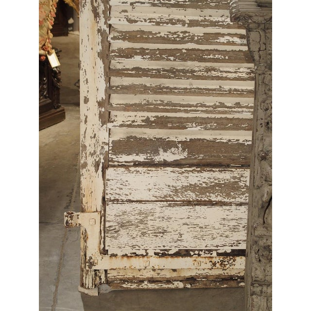 Iron Pair of Large Antique French Door Shutters From a Chateau, 19th Century For Sale - Image 7 of 13