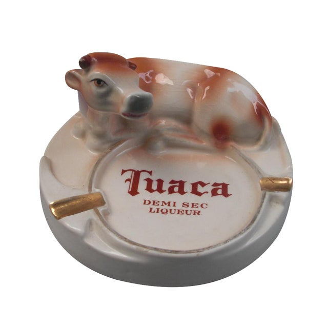 Italian Porcelain Tuaca Ashtray For Sale