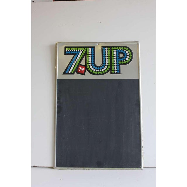 1970's Advertising Chalkboard for 7UP - Image 2 of 2