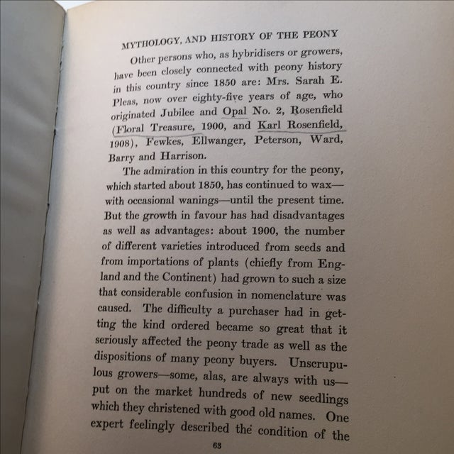 """"""" The Book of the Peony by Harding"""" 1st Edition - Image 8 of 9"""