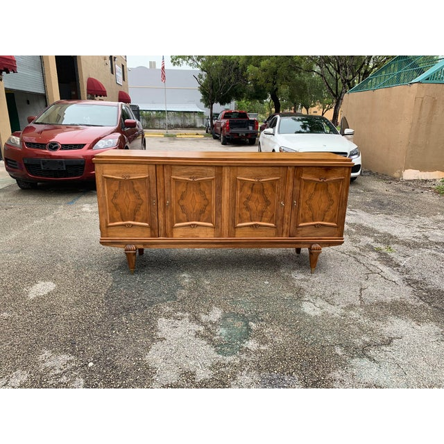 1940s French Solid Walnut Sideboard For Sale - Image 4 of 13
