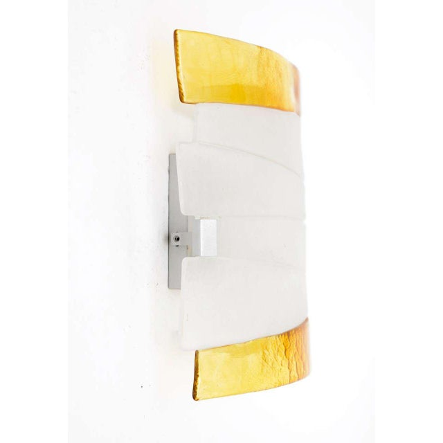 Mazzega Murano Glass Ceiling Lamp - Image 6 of 9