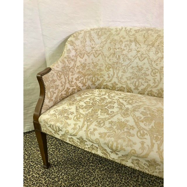 Vintage Neoclassical Settee With Nailhead Detail - Image 3 of 11