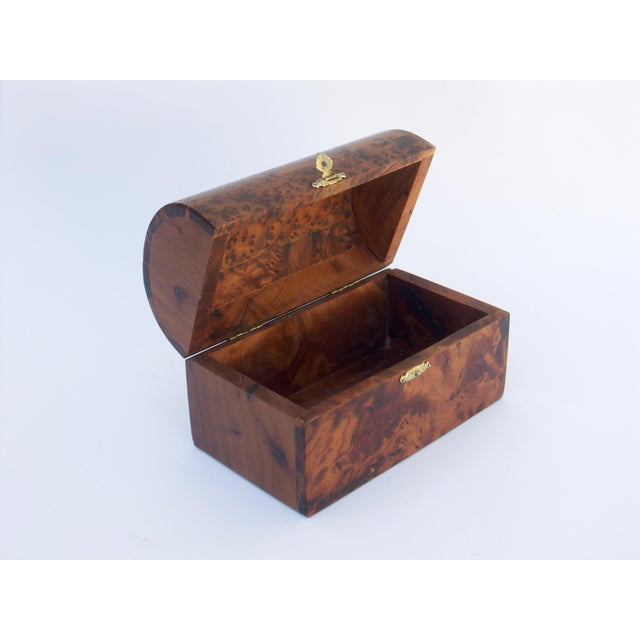 Moroccan Decorative Juniper Burl Wood Box For Sale - Image 4 of 7