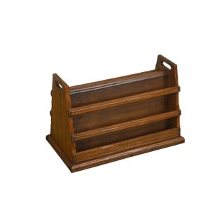 Brandt Ranch Oak Magazine Rack For Sale