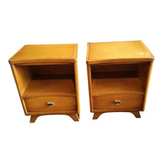 1960s Mid-Century Modern Kent Coffey the Archer 2 Nightstands - a Pair For Sale