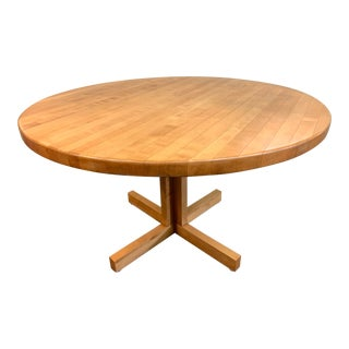 Round Classic Butcher Block Table For Sale