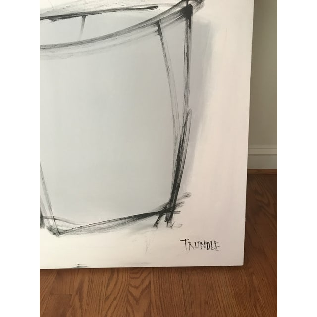 """Sarah Trundle, """"Grey Pot"""", Contemporary Abstract Floral Painting For Sale - Image 6 of 6"""