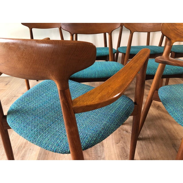 Mid-Century Modern 1960s Harry Østergaard for Randers Møbelfabrik Dining Chairs - Set of 8 For Sale - Image 3 of 13