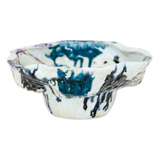 Japanese Studio Pottery Drip Glaze Bowl