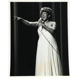 Vintage Aretha Franklin Photograph 1970s For Sale