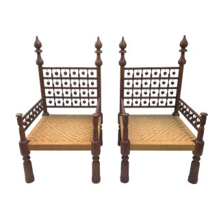 Traditional Indian Wedding Chairs- a Pair For Sale