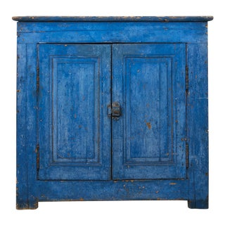 Indigo Painted Buffet For Sale