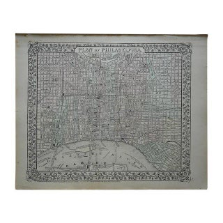 Antique Map of Philadelphia For Sale