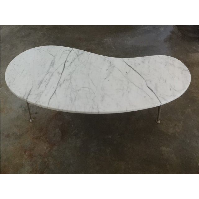 Mid-Century Marble Kidney Coffee Table For Sale - Image 7 of 8
