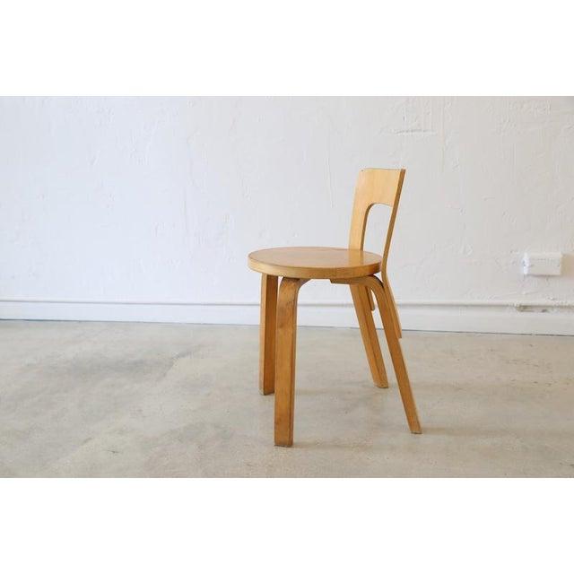 Mid-Century Modern Alvar Aalto for Artek Birchwood Chair 65 For Sale - Image 3 of 8