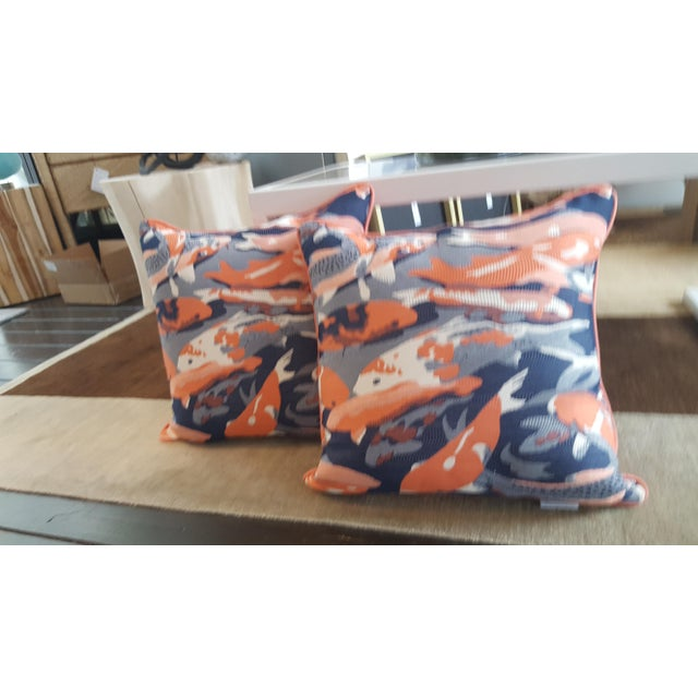 Contemporary Beko Flamingo Pillows - A Pair For Sale - Image 9 of 9
