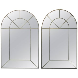 Pair of Arched Mirrors by Carol Canner Signed, 1973 For Sale