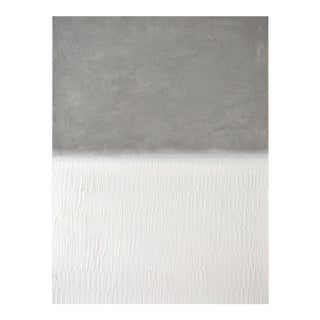 """Concrete No. 4 White Field Painting - 36x48"""" For Sale"""
