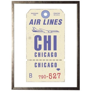 "Chicago Travel Ticket - 13.5"" X 17.5"" For Sale"