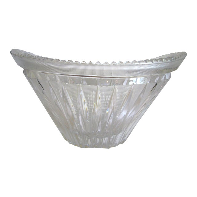 Vintage Cut Crystal Centerpiece Bowl - Image 1 of 7
