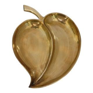 Modern Brass Apple Dish For Sale