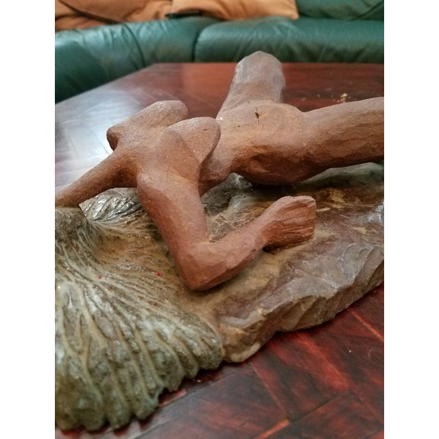 Clay Vintage Mid-Century Abstract Nude Woman Sculpture Statue For Sale - Image 7 of 9