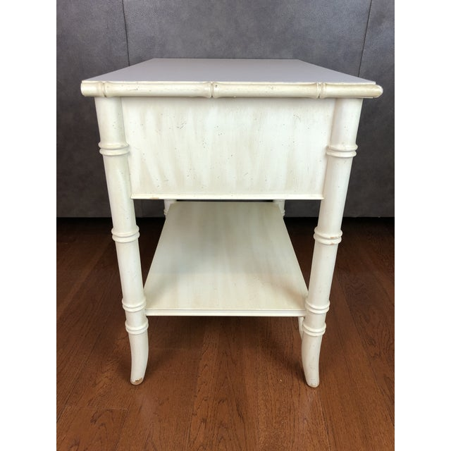 1970s Thomasville Faux Bamboo Nightstand For Sale - Image 5 of 6