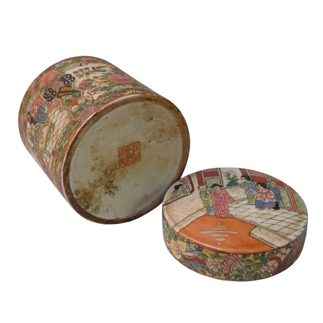 Chinese Oriental Porcelain Container For Sale - Image 5 of 6