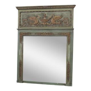Regency Style Trumeau Mirror For Sale
