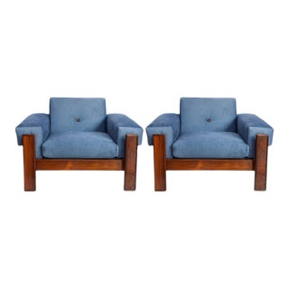 Jorge Zalszupin Armchairs in Brazilian Jacarand - a Pair For Sale