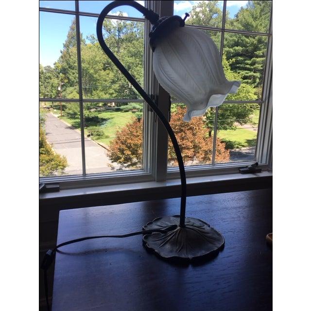 Vintage Antique Bronze Lamp - Image 2 of 4