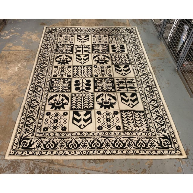 1970s Vintage Handwoven Rug - 6′ × 8′10″ For Sale - Image 9 of 11